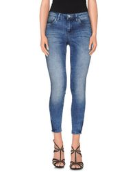 ONLY - Blue Denim Trousers - Lyst