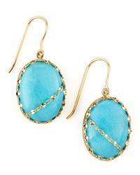 Lana Jewelry   Blue Turquoise Chain-Detail Drop Earrings   Lyst