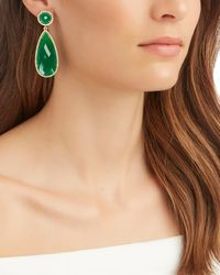 Susan Hanover - Metallic Emerald Drop Earrings - Lyst
