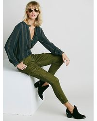 Free People | Green Trooper Cargo Skinny | Lyst