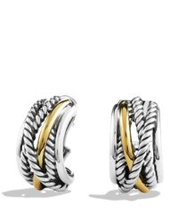 David Yurman | Metallic Crossover Earrings | Lyst