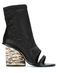 Adidas Originals - Black 'julia' Open-toe Booties - Lyst