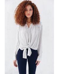BDG - White Melanie Button-down Shirt - Lyst
