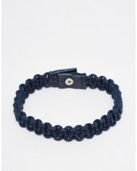 Jack & Jones | Blue Leather Bracelet for Men | Lyst
