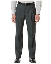Perry Ellis | Gray Portfolio Double Pleated Sharkskin Dress Pants. for Men | Lyst