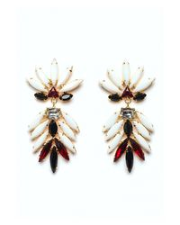 Lizzie Fortunato | Riviera White Earrings | Lyst