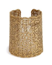 Aurelie Bidermann | Metallic Aurélie Bidermann Gold Lace Cuff - Gold | Lyst