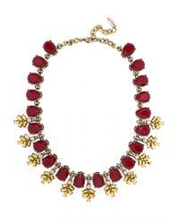 BaubleBar | Red Crystal Wreath Collar | Lyst