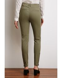 Forever 21 | Green Zippered Skinny Pants | Lyst
