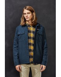 Patagonia | Blue Insulated Fjord Flannel Jacket | Lyst