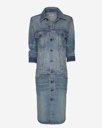 6397 - Classic Used Blue Cowboy Coat - Lyst