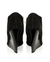 Burberry Prorsum - Black Keston Suede Wedge Boots - Lyst