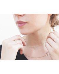Vrai & Oro | Yellow Solitaire Diamond Necklace | Lyst