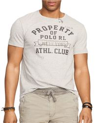 Polo Ralph Lauren | Gray Athletic Club Graphic T-shirt for Men | Lyst