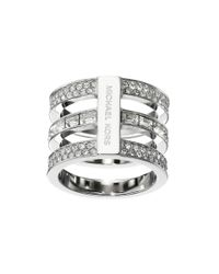 Michael Kors - Metallic Park Avenue Tric Stack Pave Ring - Lyst