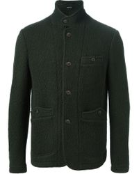 Giorgio Armani - Green Buttoned Jacket for Men - Lyst