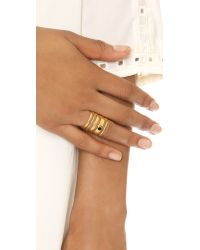 Madewell - Metallic Stack Stone Ring - Vintage Gold - Lyst