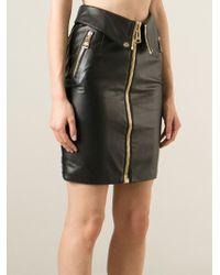 Moschino - Black Biker Skirt - Lyst