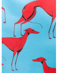 Marco Bologna - Blue Greyhound Print Pencil Skirt - Lyst