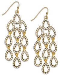 INC International Concepts - Metallic Gold-tone Large Teardrop Chandelier Drop Earrings - Lyst