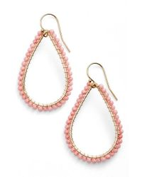 Ki-ele | Pink 'lani' Teardrop Earrings | Lyst