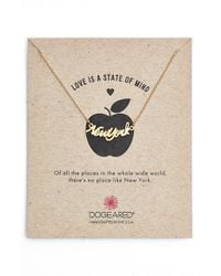 Dogeared - Metallic 'love Is A State Of Mind - New York' Necklace - Lyst