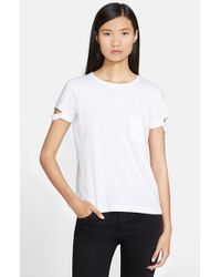 Helmut Lang | White Cotton Pocket Tee | Lyst