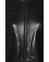 Anthony Vaccarello - Black Cropped Leather Bomber Jacket - Lyst