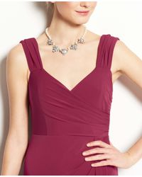 Ann Taylor - Purple Jersey Tucked Strap Gown - Lyst