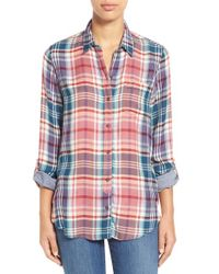 Lucky Brand - Multicolor Plaid Flannel Shirt - Lyst