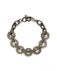 Pono | Metallic Resin Choker Necklace - Pewter | Lyst