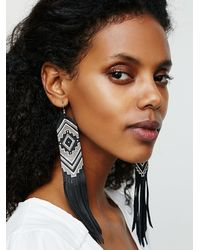 Free People - Metallic Three Arrows Leather Womens Earth Ceremony Earrings - Lyst