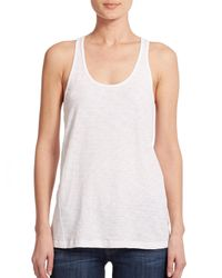 Theory - White Lydra Racerback Tank Top - Lyst
