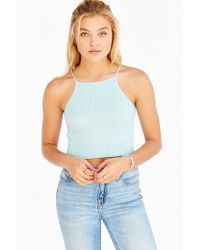 Silence + Noise | Blue Mini Apron Tank Top | Lyst