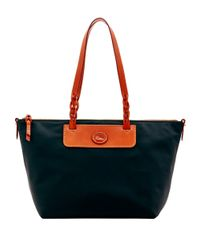 Dooney & Bourke | Blue Leather-trimmed Nylon Tote | Lyst