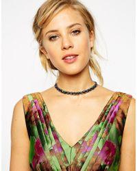 ASOS - Multicolor Gem Choker Necklace - Lyst