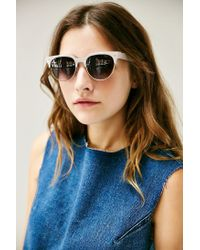 Urban Outfitters | Gray Squared Brow Sunglasses | Lyst