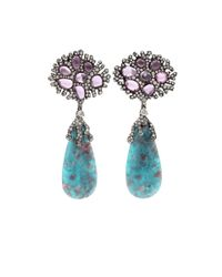 Arunashi | Blue Paraiba Drop Earrings | Lyst