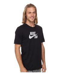 Nike | Black Dri-fit Sb Geo Dye Icon Tee for Men | Lyst