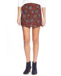 Lush | Brown Print A-line Miniskirt | Lyst