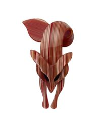 Rarities | Red Lea Stein Striped Fox Pin | Lyst