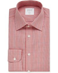 Smyth & Gibson | Red Prince Of Wales Checked Cotton Shirt for Men | Lyst