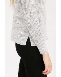 BDG | Gray Waffle Stitch Mock-neck Sweater | Lyst