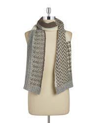 Lauren by Ralph Lauren | Natural Wool-blend Knit Scarf | Lyst