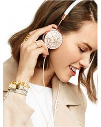 BaubleBar | Metallic Frends X Helios Layla Headphones Set-white | Lyst