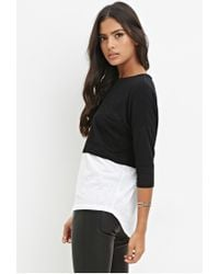 Forever 21 - Black Combo Pocket Tee - Lyst