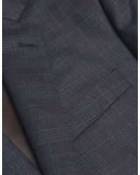 Jules B - Blue Two Piece Checked Slim Fit Suit for Men - Lyst