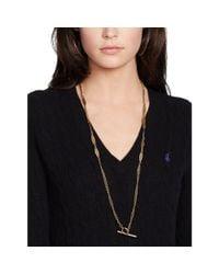 Polo Ralph Lauren - Black Wool Blend V-neck Sweater - Lyst
