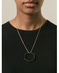 KENZO | Metallic 'octagon' Necklace | Lyst