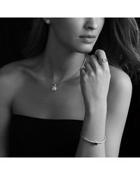 David Yurman - Metallic Noblesse Bracelet With Diamonds - Lyst